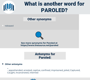 Paroled, synonym Paroled, another word for Paroled, words like Paroled, thesaurus Paroled