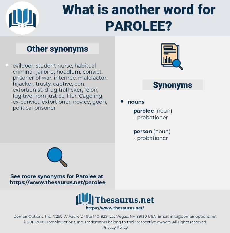 parolee, synonym parolee, another word for parolee, words like parolee, thesaurus parolee