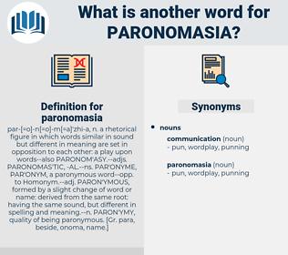 paronomasia, synonym paronomasia, another word for paronomasia, words like paronomasia, thesaurus paronomasia
