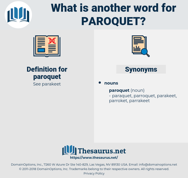 paroquet, synonym paroquet, another word for paroquet, words like paroquet, thesaurus paroquet