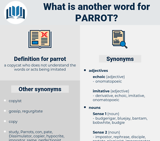 parrot, synonym parrot, another word for parrot, words like parrot, thesaurus parrot