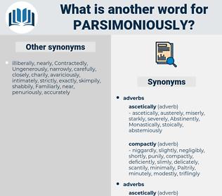 parsimoniously, synonym parsimoniously, another word for parsimoniously, words like parsimoniously, thesaurus parsimoniously