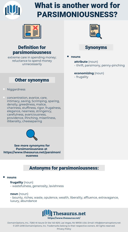 parsimoniousness, synonym parsimoniousness, another word for parsimoniousness, words like parsimoniousness, thesaurus parsimoniousness