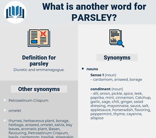 parsley, synonym parsley, another word for parsley, words like parsley, thesaurus parsley