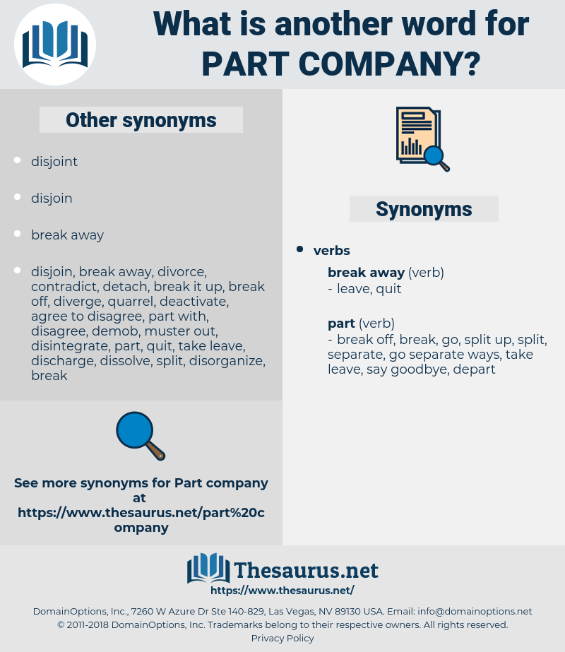 part company, synonym part company, another word for part company, words like part company, thesaurus part company