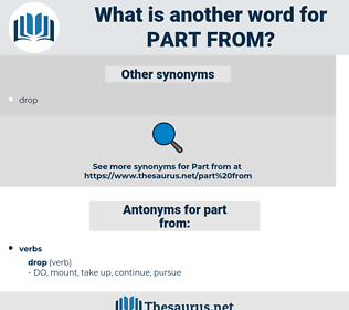 part from, synonym part from, another word for part from, words like part from, thesaurus part from