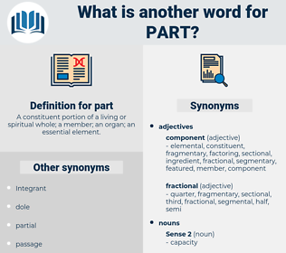 part, synonym part, another word for part, words like part, thesaurus part