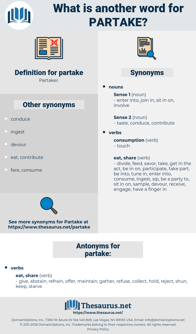 partake, synonym partake, another word for partake, words like partake, thesaurus partake