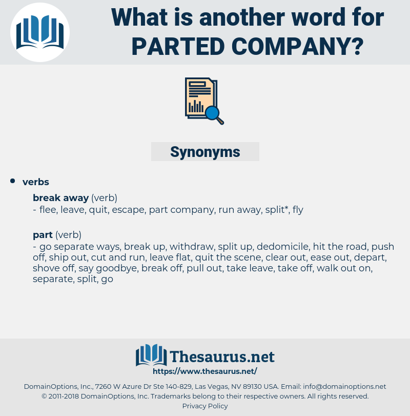 parted company, synonym parted company, another word for parted company, words like parted company, thesaurus parted company