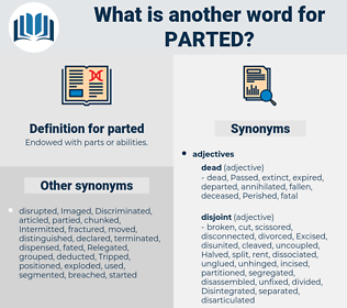 parted, synonym parted, another word for parted, words like parted, thesaurus parted