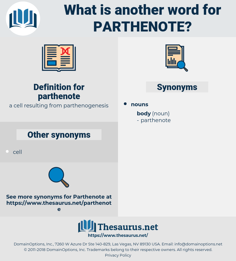 parthenote, synonym parthenote, another word for parthenote, words like parthenote, thesaurus parthenote