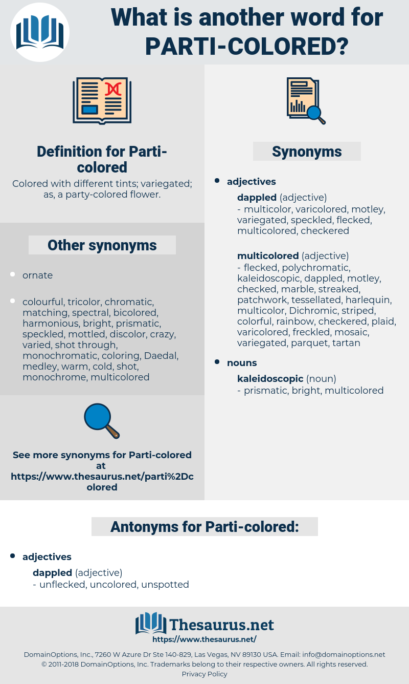parti colored, synonym parti colored, another word for parti colored, words like parti colored, thesaurus parti colored