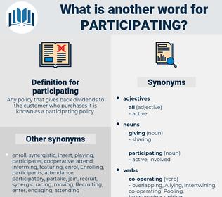 participating, synonym participating, another word for participating, words like participating, thesaurus participating