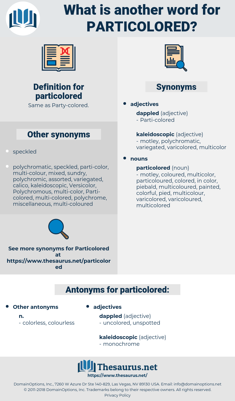particolored, synonym particolored, another word for particolored, words like particolored, thesaurus particolored
