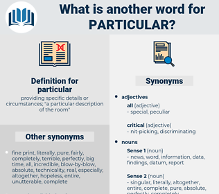 particular, synonym particular, another word for particular, words like particular, thesaurus particular