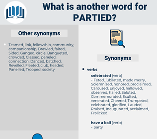 partied, synonym partied, another word for partied, words like partied, thesaurus partied