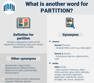 partition, synonym partition, another word for partition, words like partition, thesaurus partition