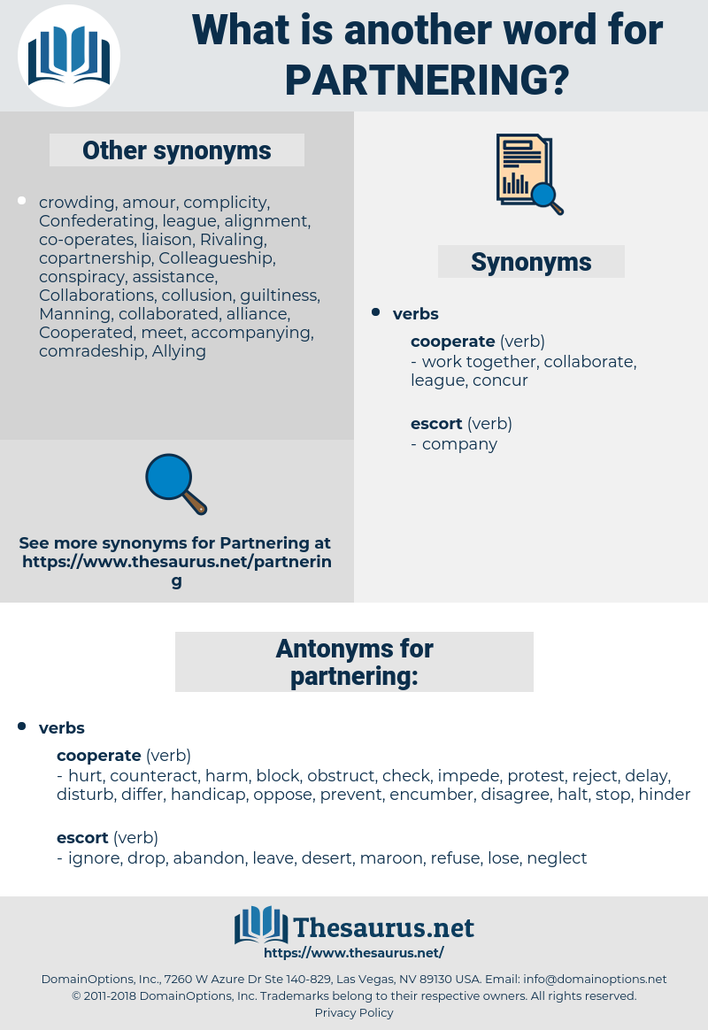 Partnered synonym