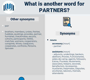 partners, synonym partners, another word for partners, words like partners, thesaurus partners