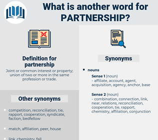 partnership, synonym partnership, another word for partnership, words like partnership, thesaurus partnership