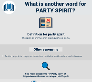party spirit, synonym party spirit, another word for party spirit, words like party spirit, thesaurus party spirit