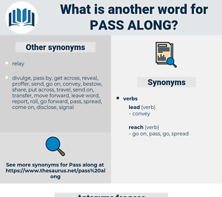 pass along, synonym pass along, another word for pass along, words like pass along, thesaurus pass along