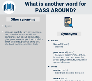 pass around, synonym pass around, another word for pass around, words like pass around, thesaurus pass around