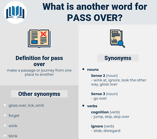 pass over, synonym pass over, another word for pass over, words like pass over, thesaurus pass over