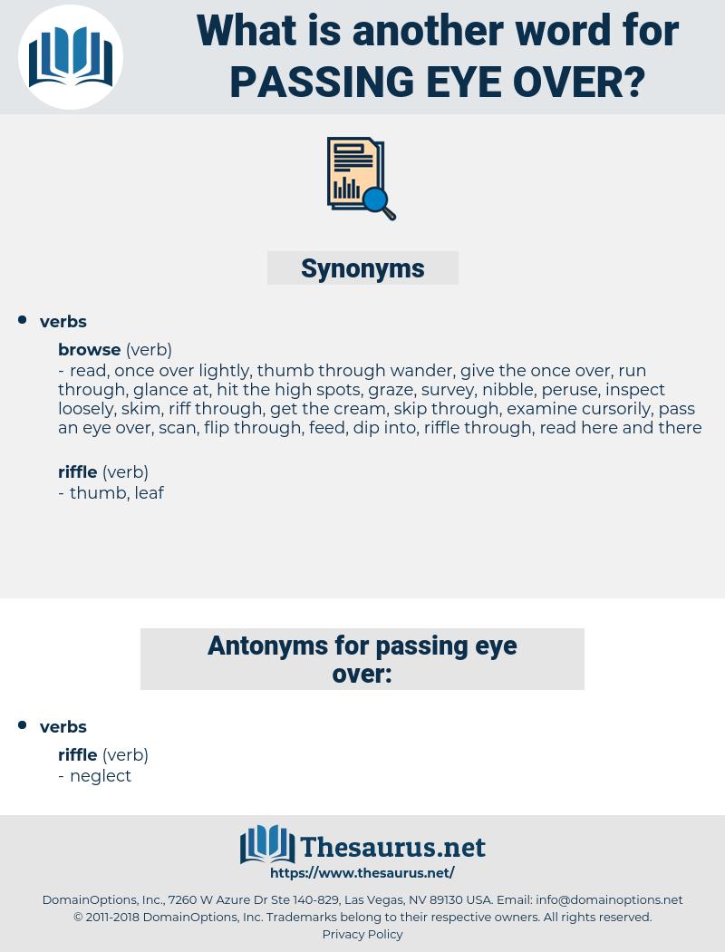 passing eye over, synonym passing eye over, another word for passing eye over, words like passing eye over, thesaurus passing eye over