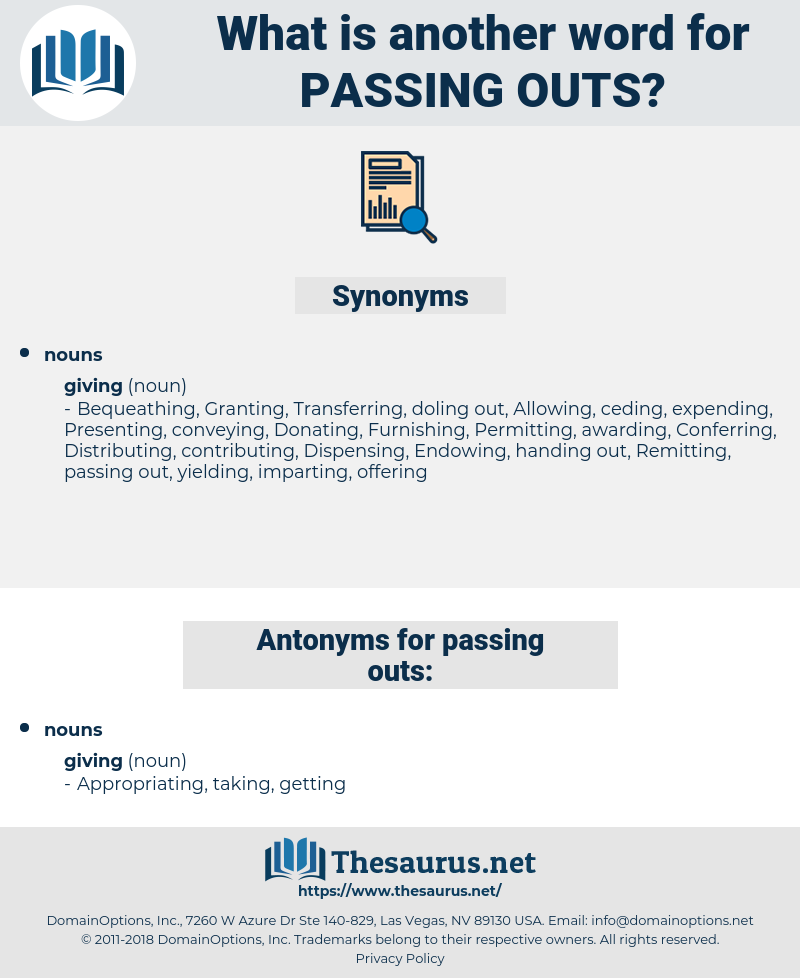 passing outs, synonym passing outs, another word for passing outs, words like passing outs, thesaurus passing outs