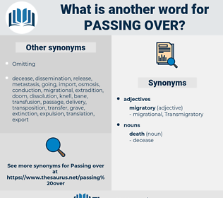 passing over, synonym passing over, another word for passing over, words like passing over, thesaurus passing over