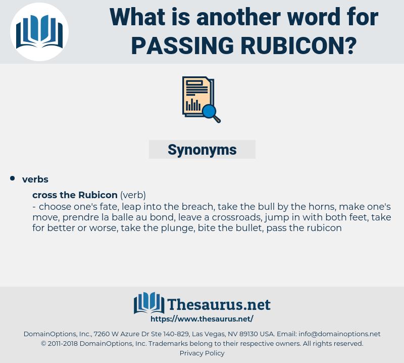 passing rubicon, synonym passing rubicon, another word for passing rubicon, words like passing rubicon, thesaurus passing rubicon