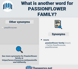 passionflower family, synonym passionflower family, another word for passionflower family, words like passionflower family, thesaurus passionflower family