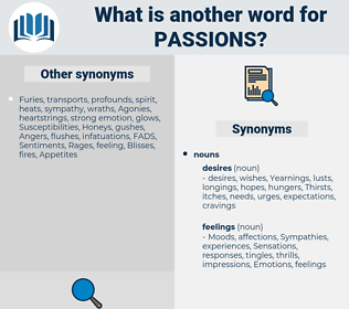 passions, synonym passions, another word for passions, words like passions, thesaurus passions