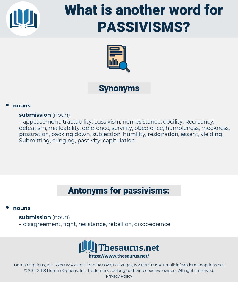 passivisms, synonym passivisms, another word for passivisms, words like passivisms, thesaurus passivisms