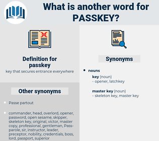 passkey, synonym passkey, another word for passkey, words like passkey, thesaurus passkey