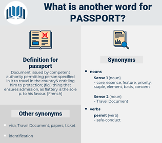 passport, synonym passport, another word for passport, words like passport, thesaurus passport