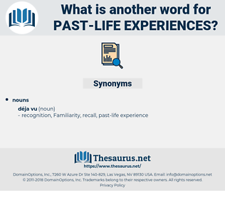 past-life experiences, synonym past-life experiences, another word for past-life experiences, words like past-life experiences, thesaurus past-life experiences