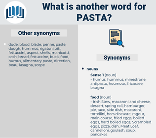 pasta, synonym pasta, another word for pasta, words like pasta, thesaurus pasta