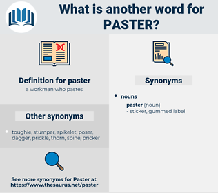 paster, synonym paster, another word for paster, words like paster, thesaurus paster