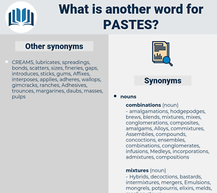 Pastes, synonym Pastes, another word for Pastes, words like Pastes, thesaurus Pastes