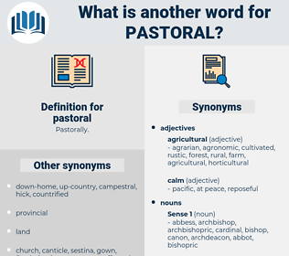 pastoral, synonym pastoral, another word for pastoral, words like pastoral, thesaurus pastoral