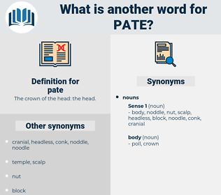 pate, synonym pate, another word for pate, words like pate, thesaurus pate