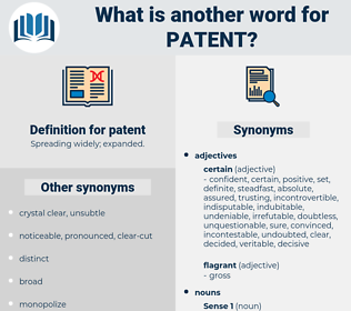 patent, synonym patent, another word for patent, words like patent, thesaurus patent