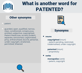 patented, synonym patented, another word for patented, words like patented, thesaurus patented