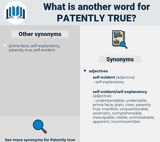 patently true, synonym patently true, another word for patently true, words like patently true, thesaurus patently true