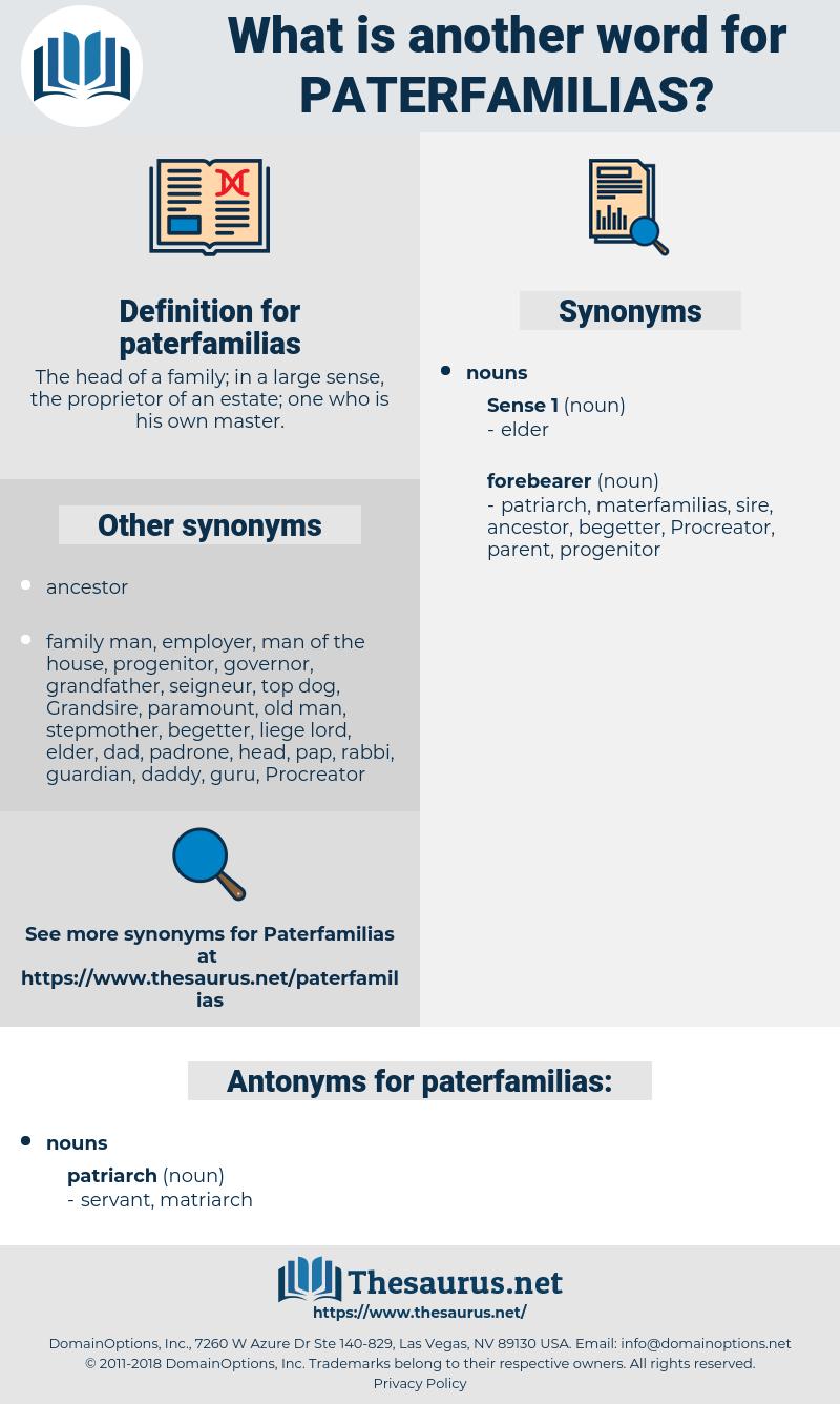 paterfamilias, synonym paterfamilias, another word for paterfamilias, words like paterfamilias, thesaurus paterfamilias