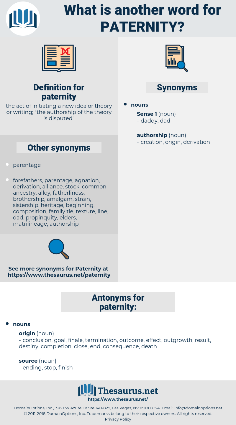 paternity, synonym paternity, another word for paternity, words like paternity, thesaurus paternity