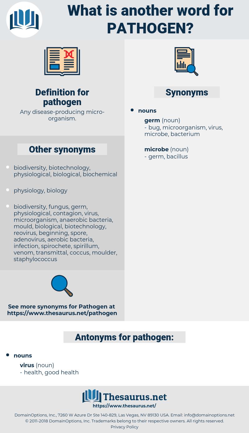 pathogen, synonym pathogen, another word for pathogen, words like pathogen, thesaurus pathogen