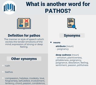 pathos, synonym pathos, another word for pathos, words like pathos, thesaurus pathos